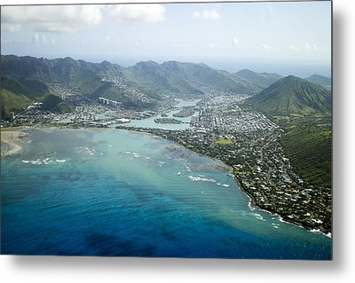 Hawaii Kai Aerial Metal Print