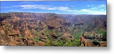 Hawaii Kauai Waimea Canyon Beautiful Panorama Metal Print