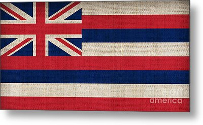 Hawaii State Flag  Metal Print by Pixel Chimp