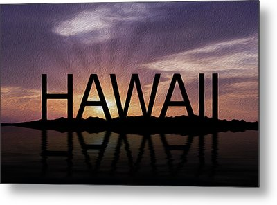 Hawaii Tropical Sunset Metal Print by Aged Pixel