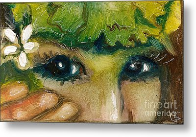 Hawaiian Eyes Metal Print
