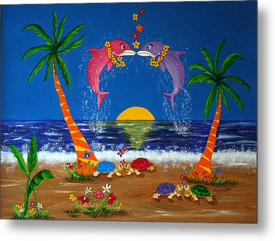 Hawaiian Island Love Metal Print by Pamela Allegretto