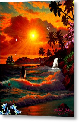Hawaiian Islands Metal Print by Michael Rucker