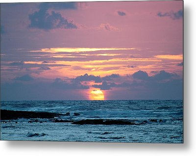 Hawaiian Ocean Sunrise Metal Print