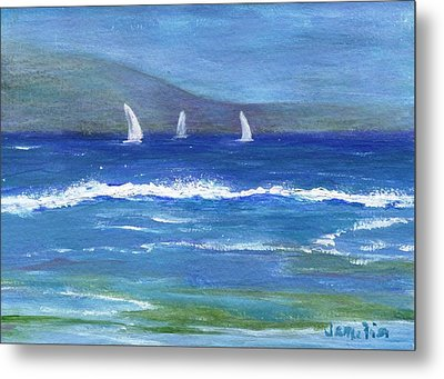 Metal Print featuring the painting Hawaiian Sail by Jamie Frier