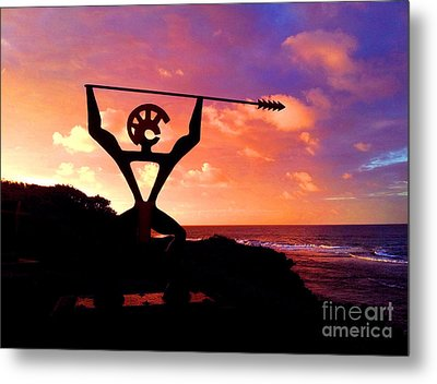 Metal Print featuring the photograph Hawaiian Silhouette by Kristine Merc