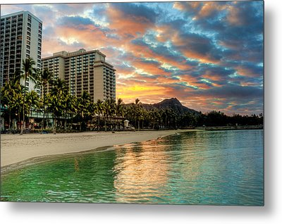 Hawaiian Sunrise Metal Print by Brent Durken