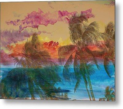 Hawaiian Sunset Metal Print by Athala Carole Bruckner