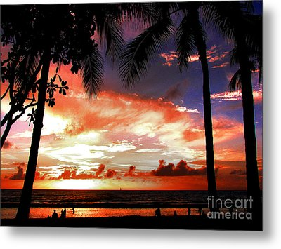 Hawaiian Sunset Metal Print by Kristine Merc