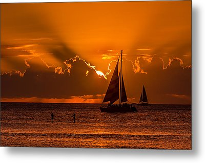 Hawaiian Sunset Metal Print