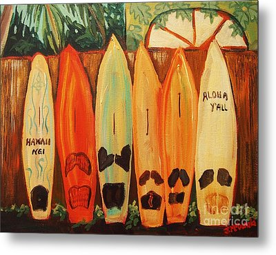 Hawaiian Surfboards Metal Print