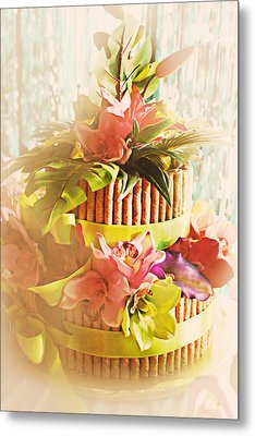 Hawaiian Wedding Cake Metal Print by Susan Bordelon