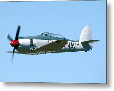 Hawker Sea Fury Nx51sf Flying Camarillo August 23 2003 Metal Print