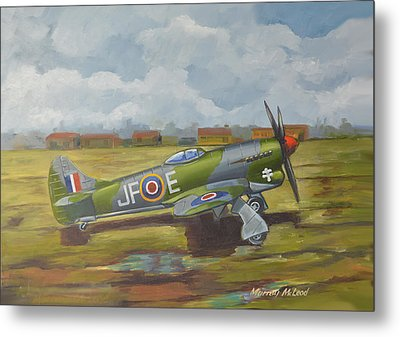 Metal Print featuring the painting Hawker Tempest by Murray McLeod