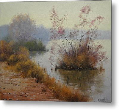 Hawksbury River Painting Metal Print by Graham Gercken