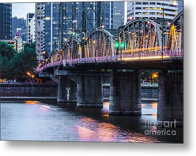 Hawthorne Bridge Portland Oregon Metal Print by Patricia Babbitt