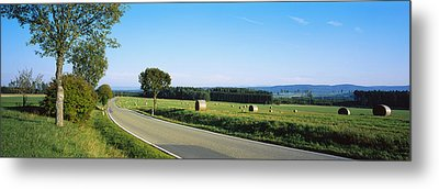 Hay Bales In A Field, Germany Metal Print