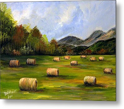 Hay Bales In Wv Metal Print