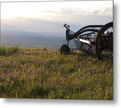 Metal Print featuring the photograph Hay Rake by Jenessa Rahn