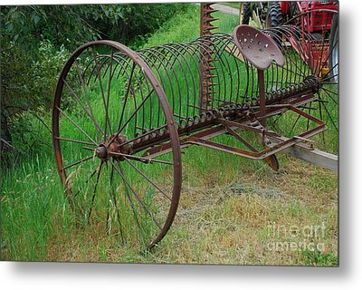 Metal Print featuring the photograph Hay Rake by Ron Roberts