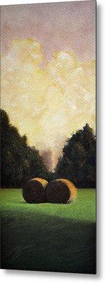 Hay Wheels - Pastel Metal Print