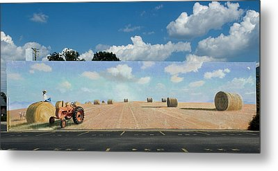 Haybales - The Other Side Of The Tunnel Metal Print by Blue Sky