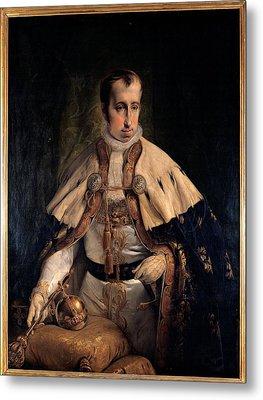 Hayez Francesco, Portrait Of Emperor Metal Print by Everett