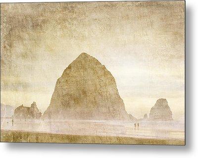 Haystack Rock Metal Print by Carol Leigh