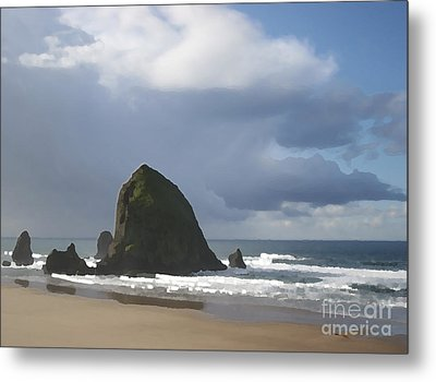Metal Print featuring the photograph Haystack Rock by Jeanette French
