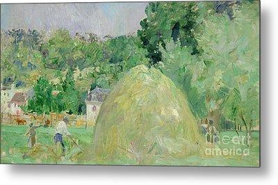 Haystacks At Bougival Metal Print by Berthe Morisot