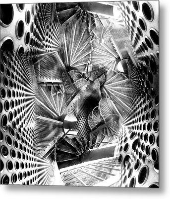 Hazard Stairs Metal Print by Florin Birjoveanu