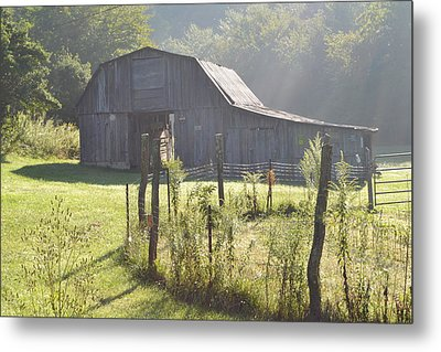 Hazy Barn  Metal Print