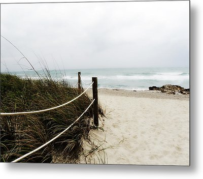 Hazy Beach Day Metal Print