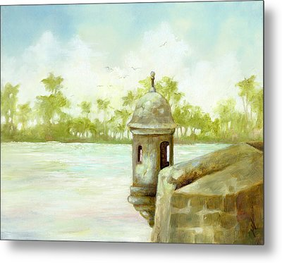 Hazy Day On The Bay Metal Print by Monica Linville