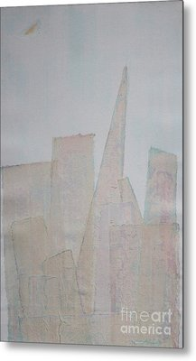 Hazy Fog Clearing Over San Francisco Metal Print