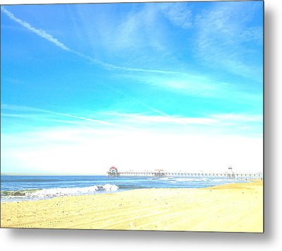 Metal Print featuring the photograph Hb Pier 7 by Margie Amberge