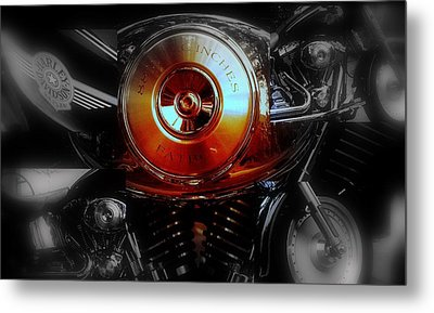 Metal Print featuring the photograph Hd Fatboy Collage by Karen Kersey