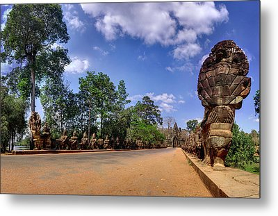 Metal Print featuring the photograph Hdr - Hi-res - Ancient Asia Civilization Monuments In Angkor Wat Cambodia by Afrison Ma