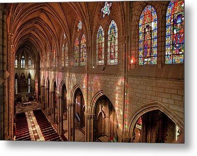 Hdr Image Of The Basilica Interior Metal Print