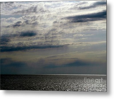 Hdr Storm Over The Water  Metal Print by Joseph Baril