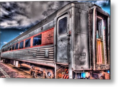 Hdr Train Metal Print by DH Visions Photography