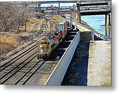 Metal Print featuring the photograph Hdr Train by Karen Kersey
