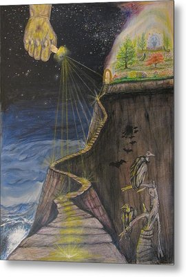 He Always Leads Me To Higher Ground Metal Print by Neal David Reilly