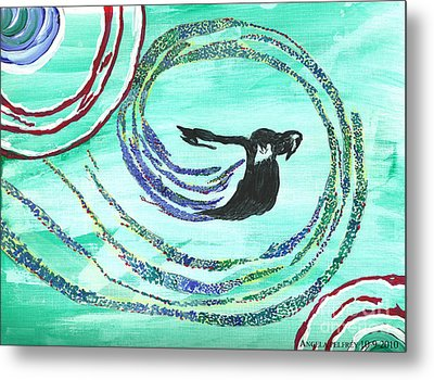 He Comes In The Wind Metal Print by Angela Pelfrey