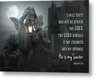He Is My Savior Metal Print