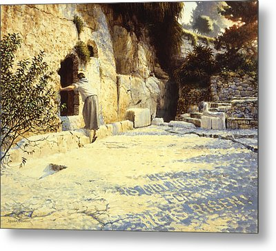 He Is Risen Metal Print by Graham Braddock