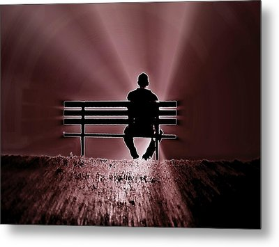 Metal Print featuring the photograph He Spoke Light Into The Darkness by Micki Findlay