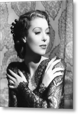 He Stayed For Breakfast, Loretta Young Metal Print by Everett