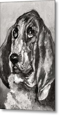 Head Of A Dog Running, 1880 Metal Print