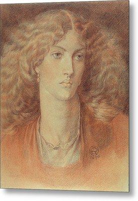 Head Of A Woman Called Ruth Herbert Metal Print by Dante Charles Gabriel Rossetti